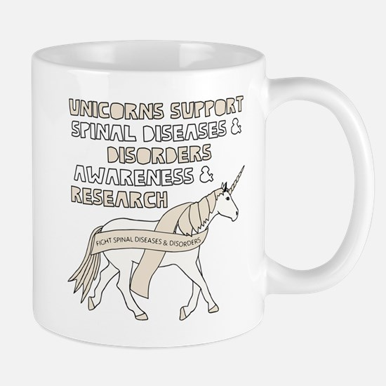 Unicorns Support Spinal Diseases & Disorders Mugs