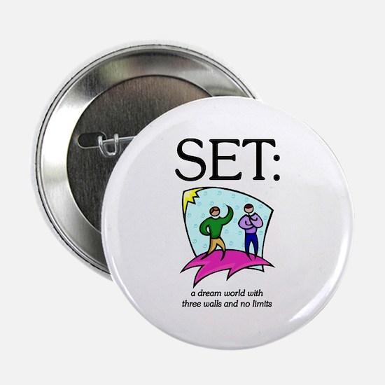 "SET: Three walls, no limits 2.25"" Button"
