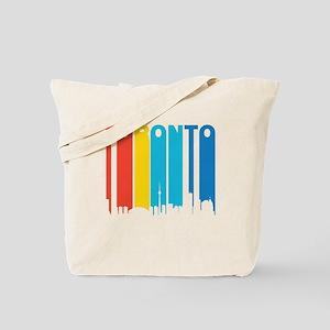Retro Toronto Skyline Tote Bag