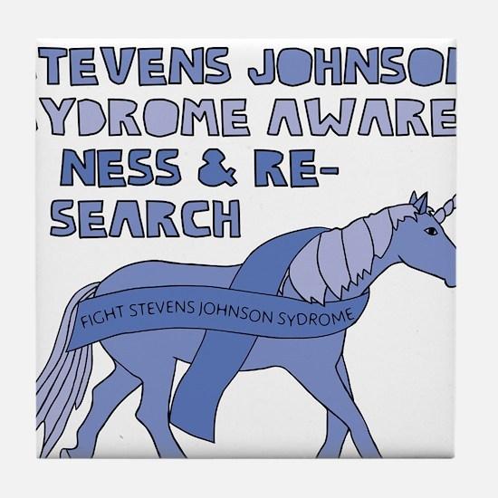 Unicorns Support Stevens Johnson Synd Tile Coaster