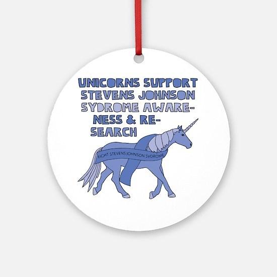Unicorns Support Stevens Johnson Sy Round Ornament