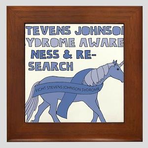 Unicorns Support Stevens Johnson Syndr Framed Tile