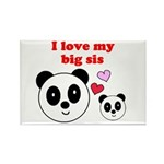 I LOVE MY BIG SIS Rectangle Magnet (100 pack)