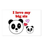 I LOVE MY BIG SIS Postcards (Package of 8)