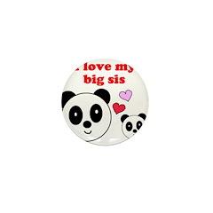 I LOVE MY BIG SIS Mini Button (100 pack)