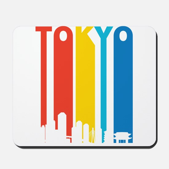 Retro Tokyo Skyline Mousepad