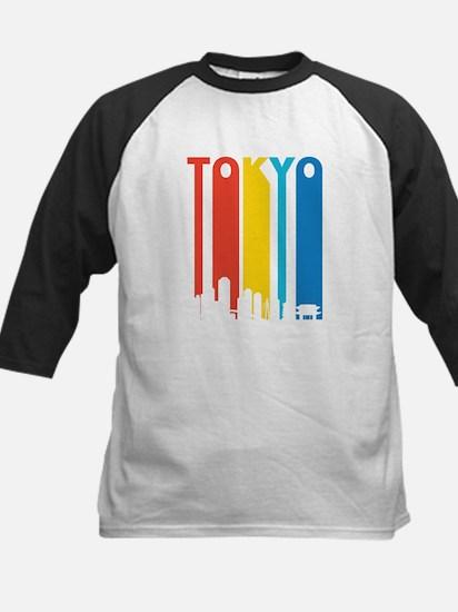 Retro Tokyo Skyline Baseball Jersey