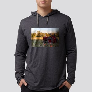 Tractor in a field of pumpkins Long Sleeve T-Shirt