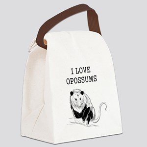 I Love Opossums Canvas Lunch Bag
