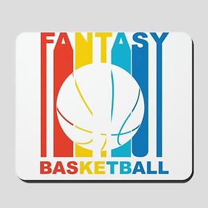 Retro Fantasy Basketball Mousepad