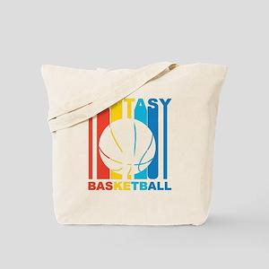 Retro Fantasy Basketball Tote Bag