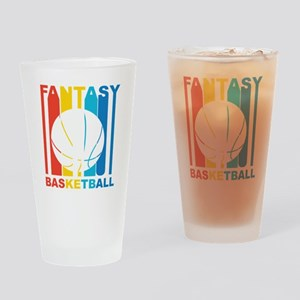 Retro Fantasy Basketball Drinking Glass