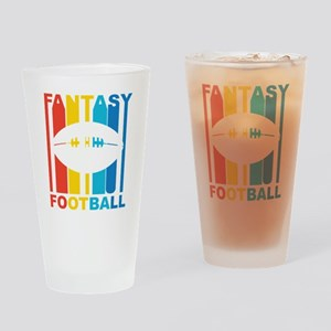 Retro Fantasy Football Drinking Glass