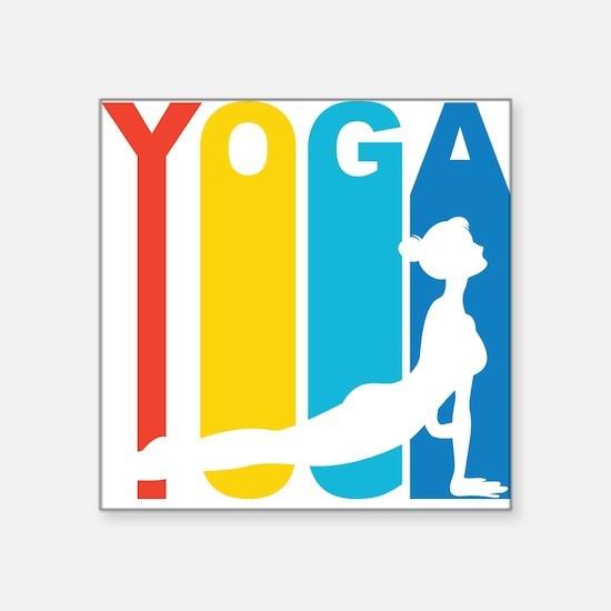 Retro Yoga Sticker