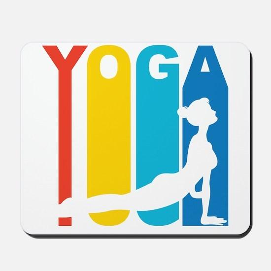 Retro Yoga Mousepad