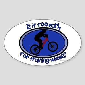 Training Wheels Oval Sticker