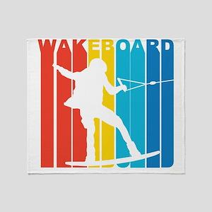 Retro Wakeboard Throw Blanket