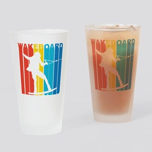 Retro Wakeboard Drinking Glass