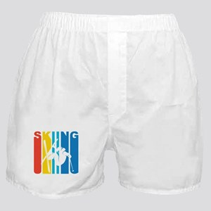 Retro Skiing Boxer Shorts
