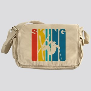 Retro Skiing Messenger Bag