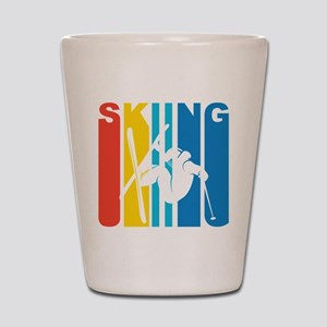 Retro Skiing Shot Glass