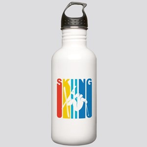 Retro Skiing Water Bottle