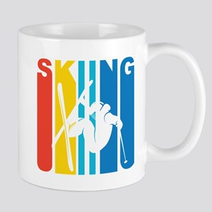 Retro Skiing Mugs