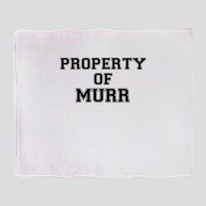 Property of MURR Throw Blanket