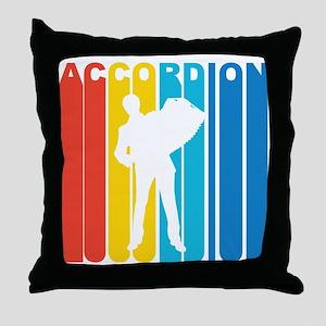 Retro Accordion Throw Pillow