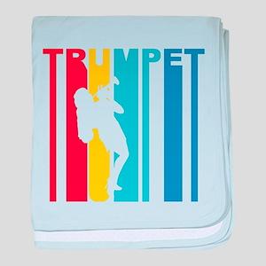 Retro Trumpet baby blanket