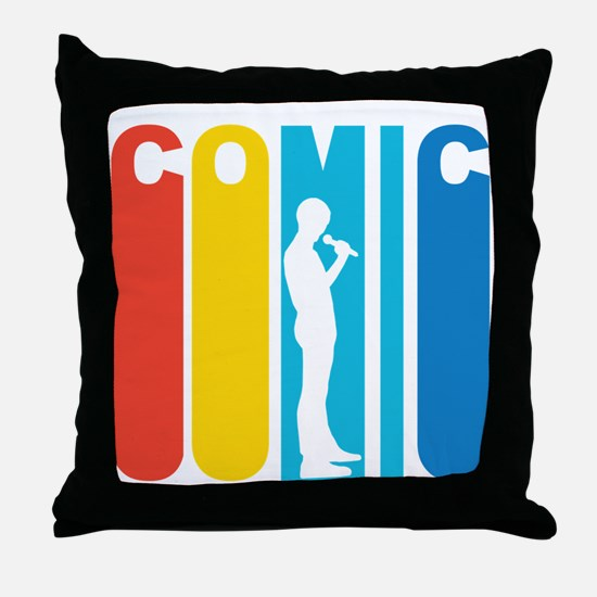 Retro Stand Up Comic Throw Pillow