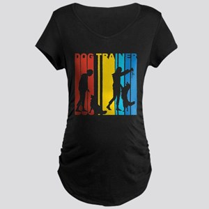 Retro Dog Trainer Maternity T-Shirt