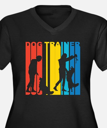 Retro Dog Trainer Plus Size T-Shirt