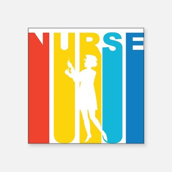 Retro Nurse Sticker