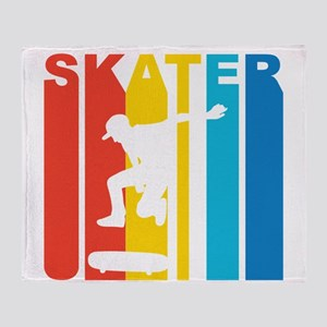 Retro Skater Throw Blanket