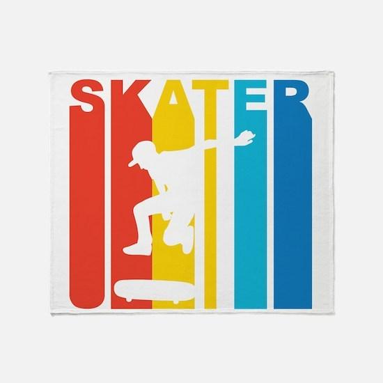 Retro Skater Throw Blanket