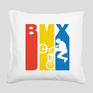 Retro BMX Square Canvas Pillow