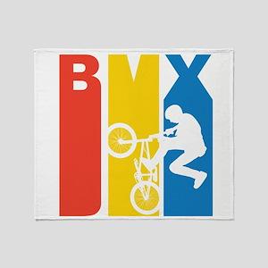 Retro BMX Throw Blanket