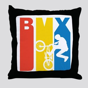 Retro BMX Throw Pillow