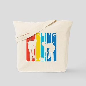 Retro Curling Tote Bag