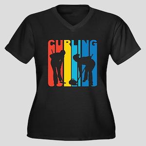 Retro Curling Plus Size T-Shirt