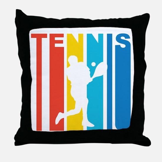 Retro Tennis Throw Pillow