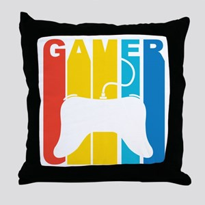 Retro Gamer Throw Pillow