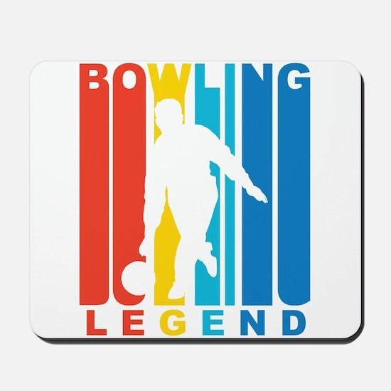 Retro Bowling Legend Mousepad