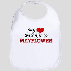 My Heart Belongs to Mayflower Massachusetts Bib