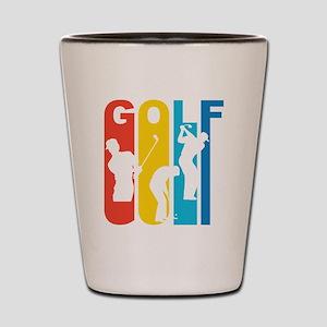 Retro Golf Golfing Shot Glass