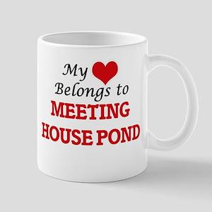 My Heart Belongs to Meeting House Pond Massac Mugs