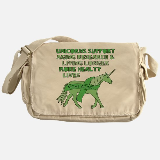 Unicorns Support Ageing Research & L Messenger Bag