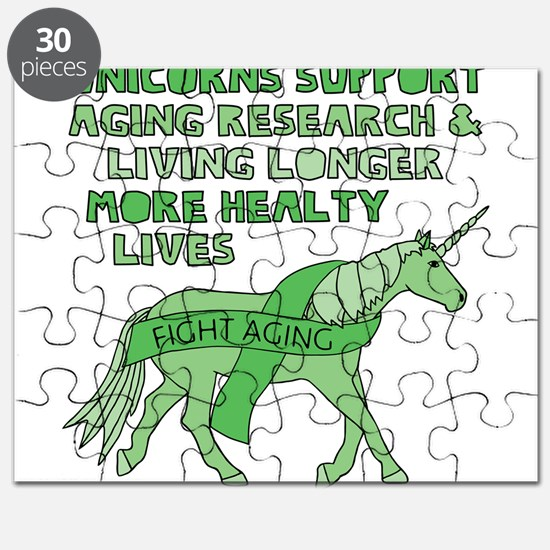 Unicorns Support Ageing Research & Living L Puzzle