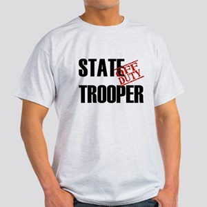 Off Duty State Trooper Light T-Shirt